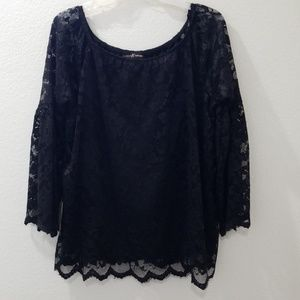 Off the shoulder's, Black lace top